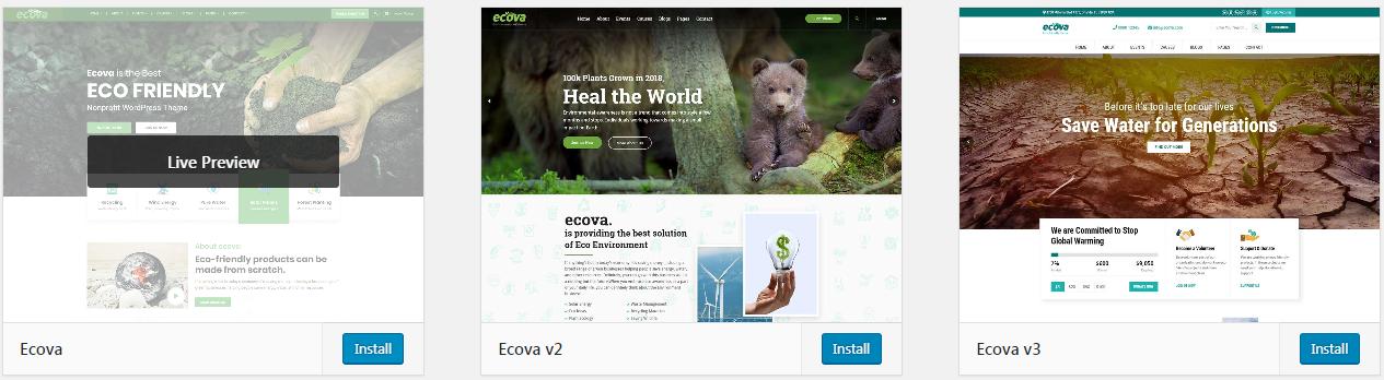 Ecova - Eco Environmental WordPress Theme - 1